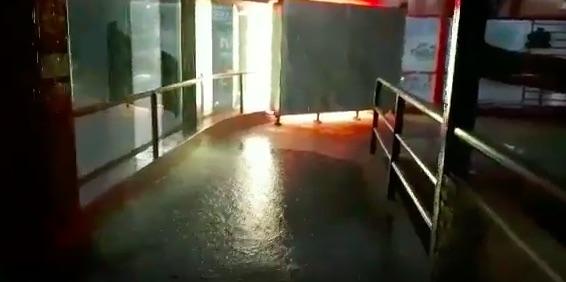Por la fuerte tormenta, ingresó agua en el estadio Malvicino