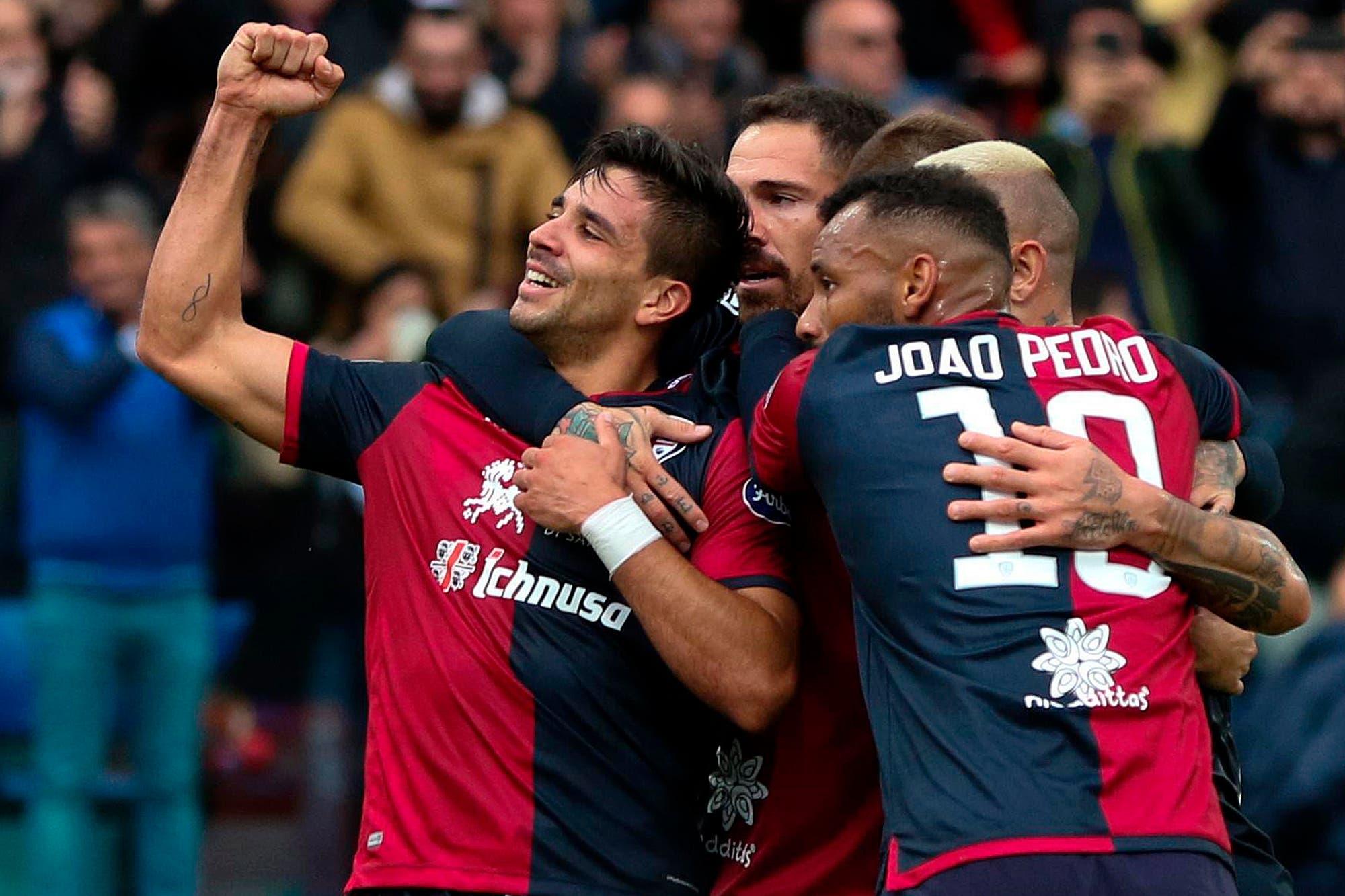 """Goles argentinos en Europa: los gritos de Gio Simeone, Angel y Joaquín Correa y """"Licha"""" Martínez"""