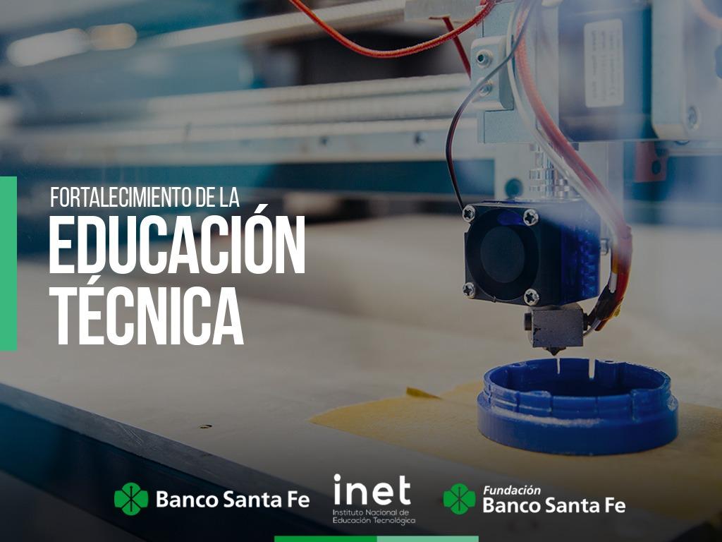 banco-santa-fe-patrocinara-proyectos-vinculados-a-educacion-tecnica,-empleo-y-desarrollo-tecnologico
