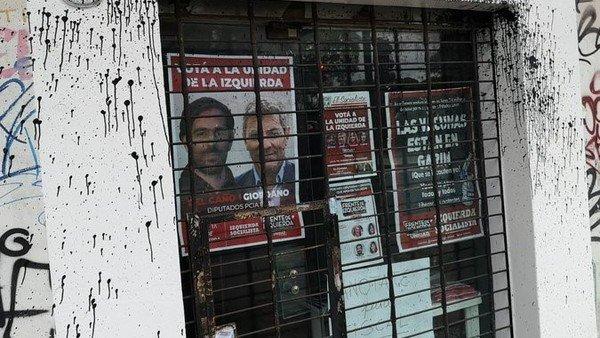 la-izquierda-socialista-denuncio-que-atacaron-con-pintura-uno-de-sus-locales,-ubicado-en-chacarita
